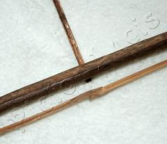 Bogen mit Bambussehne u. Pfeilen