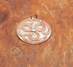 Kupfer Tridkele auf Eisenplatte: Grossbild