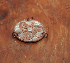 Kupfer Triskele mit 3 Ringen