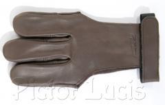 Brauner Schiesshandschuh Damaskus: Grossbild